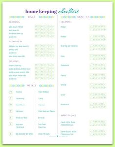 Here is the current collection of Home Management Printables available, free for personal use. Have some fun setting up your Home Management System! Cleaning Schedule Printable, House Cleaning Checklist, Weekly Cleaning, Deep Cleaning Tips, Cleaning Solutions, Cleaning Hacks, Cleaning Routines, Home Cleaning Schedules, Clean House Schedule