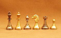 "Stunning gift for the chess fanatic in your life! Ital Fama Staunton Metal  Chessmen 2"" King, http://www.thegamesupply.com/staunton%20chessmen%20sale #stauntonmetalchessmen #italfamachesssets"