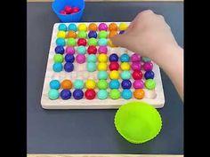 Montessori Játékok Szivárvány Színű Gyöngyök - Jatekmall.hu Preschool Learning Toys, Montessori Toys, Toddler Toys, Kids Toys, Shape Matching, Puzzle Board, Travel Toys, Card Patterns, Early Education