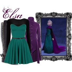 Elsa's inspired outfit. Pretty on point.