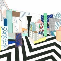 Risultati immagini per studio memphis design Emigre Magazine, Arch Decoration, Art Folder, Memphis Design, Interior Sketch, Shape And Form, Pop Art, Abstract Art, Illustration Art