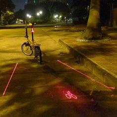 5 LED Bicycle Laser Taillight Bike Light 2 Laser Beams Logo Projection Version | eBay,$16.34