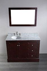 45'' Bosconi SB-255 Contemporary Single Vanity #vanities #HomeRemodel #BathroomRemodel #BlondyBathHome #Freestanding