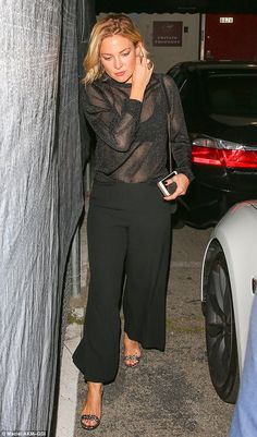 Cheeky! Kate Hudson looked sensational in a relatively casual ensemble as she stepped out for dinner at Craig's in West Hollywood on Wednesday