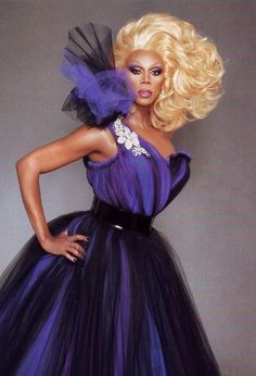I wish I was as glamorous as RuPaul.