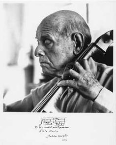 Pablo Casals, re-inventor of the cello, re-discoverer of the Bach Cello Suites, exiled himself from his native Spain in protest of Franco's fascism, and refused to perform in countries that recognized and legitimized Franco's rule.