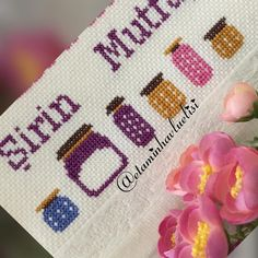 Görüntünün olası içeriği: 1 kişi Retro, Diy And Crafts, Cross Stitch, Lily, Embroidery, Handmade, Dish Towels, Crocheting Patterns, Cross Stitch Embroidery
