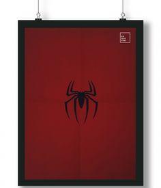 Pôster/Quadro minimalista Homem Aranha