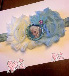 Frozen Elsa Headband/ disney Princess flower headband on Etsy, $5.00