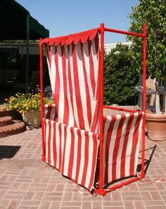 Amazing PVC booth / lemonade stand. Detailed pictures show how it came together.