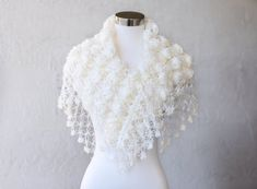 Wedding Shawl / Bridal Bolero Shrug / Bridal Shawl by MODAcrochet