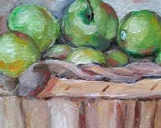 Green Apples by MariaTepperPaintings on Etsy