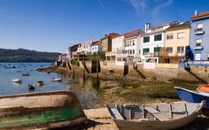 The fishing village of Redes on the wild coast of Galicia