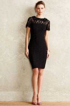 Jeweled Collar Sheath / anthropologie.com