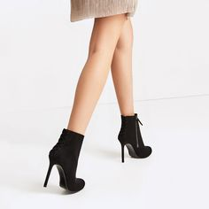 HIGH HEEL ANKLE BOOTS WITH ELASTIC-Ankle boots-SHOES-WOMAN | ZARA United States