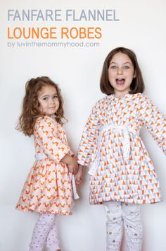 Fanfare Flannel Lounge Robes by luvinthemommyhood.com for Made by Rae Fanfare Tour