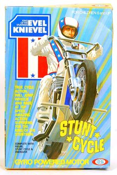 True Cycle Action. Will Jump, Wheelie and Race at Top Speed. Amazing Action Superbike For the King of the Stuntmen. Compete with Figure, Stunt Cycle and Energiser