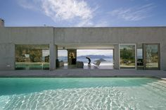 Dream view from a private residence on Aegina Island in the Saronikos gulf, Greece. Architecture: Helen Sfakianaki