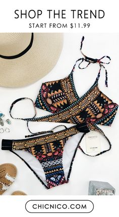 This bikini is dope and that's the truth. What are you waiting for? Shop it today at a cheap price at chicnico.com
