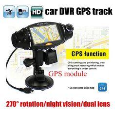 "best price 2.7"" inch Video Car Camera Dual Lens Recorder GPS module HD IR Night Vision DVR R310 dash cam"