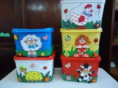 Games For Kids, Toy Chest, Planter Pots, Decorative Boxes, Lunch Box, Homemade, Crafty, Storage, Toys