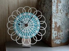 #diy #howto Recycled Doily Clocks for the Hopeless But Punctual Romantic