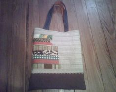 Japanese zakka brown patchwork quilted tote purse by AllisonKapner, $40.00