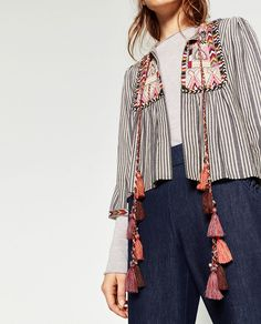 SHORT EMBROIDERED JACKET.-NEW IN-WOMAN | ZARA United States