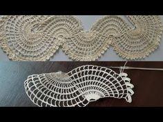 Crochet Flower Tutorial, Crochet Flowers, Crochet Lace, Crochet Stitches, Bead Crafts, Diy And Crafts, Crochet Boarders, Crochet Videos, Bargello