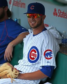 Kris Bryant. Wrigley Field on April 17, 2015 in Chicago.