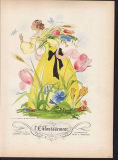 H-1938 LE BLOUISSEMENT ALBERIC CAHUET PERFUME FLOWER ART
