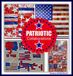 """Patriotic Children's Art Collaborations in Response to """"Red, White and Blue"""" by Debbie Clement Holiday Themes, Holiday Fun, Holiday Crafts, Collaborative Art Projects For Kids, Group Projects, Patriotic Crafts, July Crafts, 4th Of July Decorations, Elementary Art"""