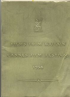 British Films Cannes France Film Festival 1956 Brochure Reach for the Sky River Plate Cinema A town like Alice for the A
