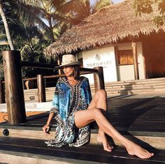 Where does the most famous person in Spain go for her tropical holiday? Tokoriki of course! Nieves Álvarez shares her amazing holiday photos. Holiday Photos, Fiji, Spanish, Cover Up, Tropical, Celebrities, Beach, Fashion, Holiday Pictures