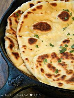 Garlic-Butter Naan flatbread