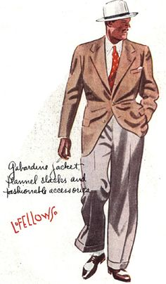 saw a man walking today wearing a similar suit, but the colors were darker; Dark Brown Tweed Jacket paired with Light Brown Pants