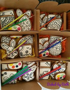 Paint your  own Easter cookies                              …