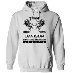 TEAM DAVISON LIFETIME MEMBER LEGEND - #tshirt rug #cropped hoodie. PURCHASE NOW => https://www.sunfrog.com/Names/TEAM-DAVISON-LIFETIME-MEMBER-LEGEND-hvwjporene-White-35746000-Hoodie.html?68278