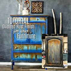 OXIDIZED RUST FINISH FOR FURNITURE #dododsondesigns #oxidized #rust #paintedfurniture #tutorial