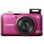 """Canon PowerShot SX230 HS 12.1MP 14x Optical 3"""" LCD Digital Camera w/ 1080p Video (Pink or Blue) $135"""