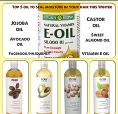 Oils to seal hair