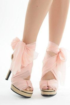 Image result for french heel with bows and ribbons