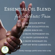 AROMATHERAPY ~ ESSENTIAL OILS | Essential Oil Blend for Arthritis Pain