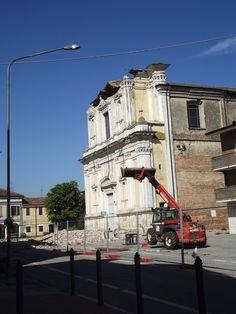 Terremoto, la chiesa di Bondeno (Mantova)