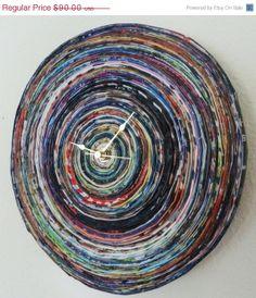 magazine art clock | CIJ SALE, Paper Magazine Clock, Eco Friendly ... | Paper-Magazine Art