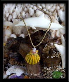 Extra Large Calico Sunrise Shell & Rose Quartz Medallion Style Twisted Cord Necklace