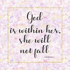 Image result for god is within her she will not fall