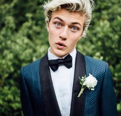 Lucky Blue Smith Grey Hairstyle 2016