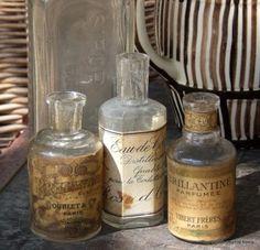 Vintage French perfume bottles