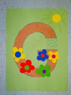 momstown hamilton: Preschool Alphabet Crafts G is for Garden